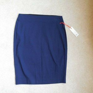 Elle Textured Square Pull On Pencil Skirt Small